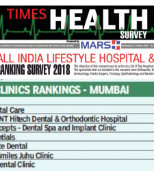 Ranked amongst the top 5 clinic in Mumbai as per the TIMES HEALTH ALL INDIA LIFESTYLE AND CLINIC RANKING SURVEY 2018